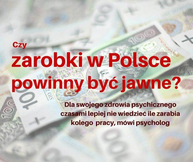 Zarobki powinny by� jawne? Psycholog: Czasami dla swojego zdrowia lepiej nie wiedzie�, ile zarabia kolega z pracy [ROZMOWA]