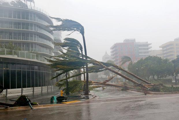 Skutki uderzenia huraganu Irma na południu Florydy