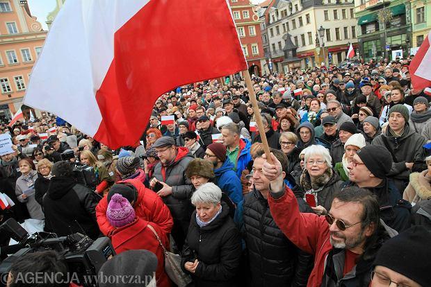 Manifestacja KOD Wrocław