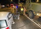 Żołnierze USA stacjonujący w Polsce nie mają szczęścia. Znów mieli wypadek - zderzyli się z polo