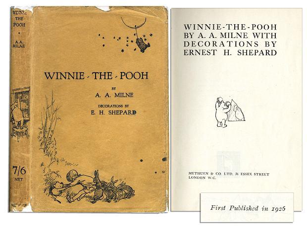Pierwsze wydanie 'Kubusia Puchatka' z 1926 roku