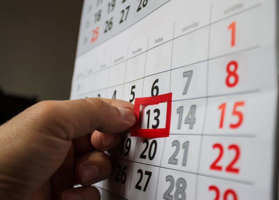 Piątek trzynastego wypada w tym roku 13 kwietnia i 13 lipca