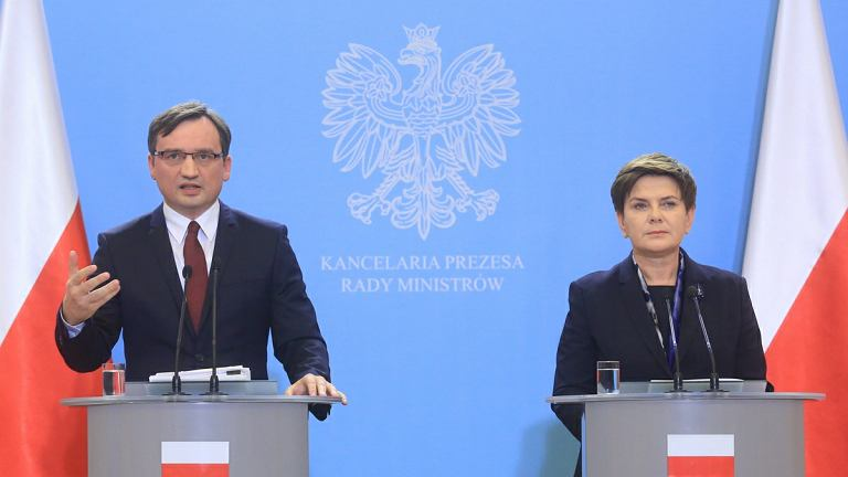 Beata Szydło i Zbigniew Ziobro