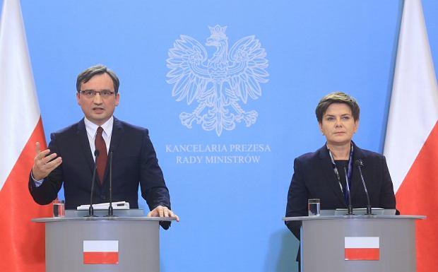 Beata Szyd�o i Zbigniew Ziobro