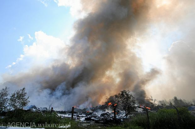 Pożar w Trzebini