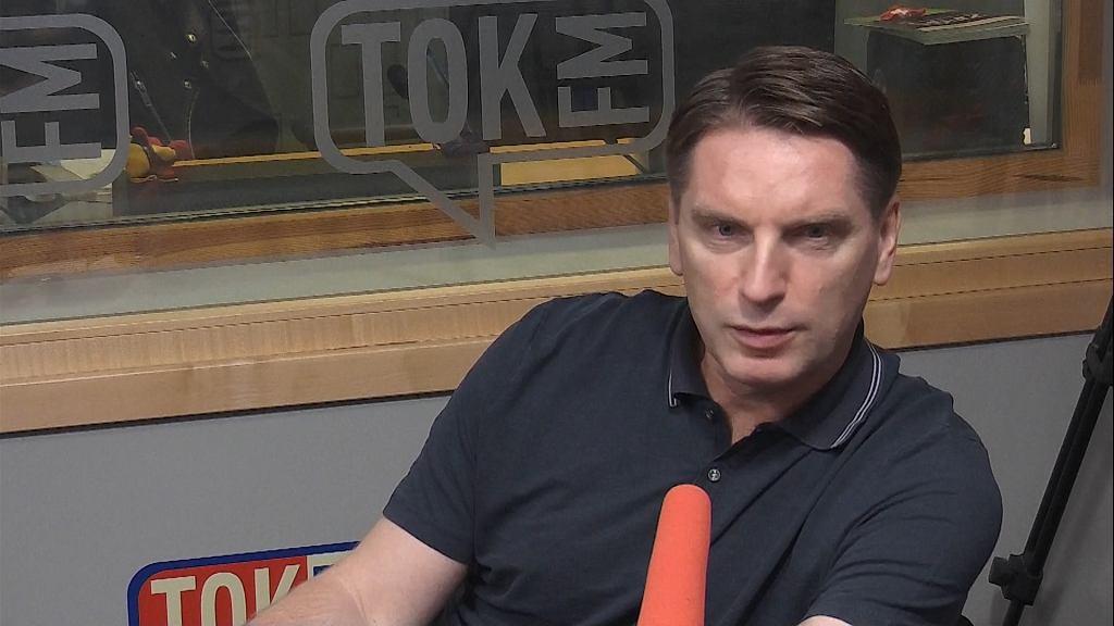 Tomasz Lis w studiu TOK FM.