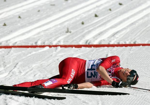 Justyna Kowalczyk za linią mety biegu na 10 km