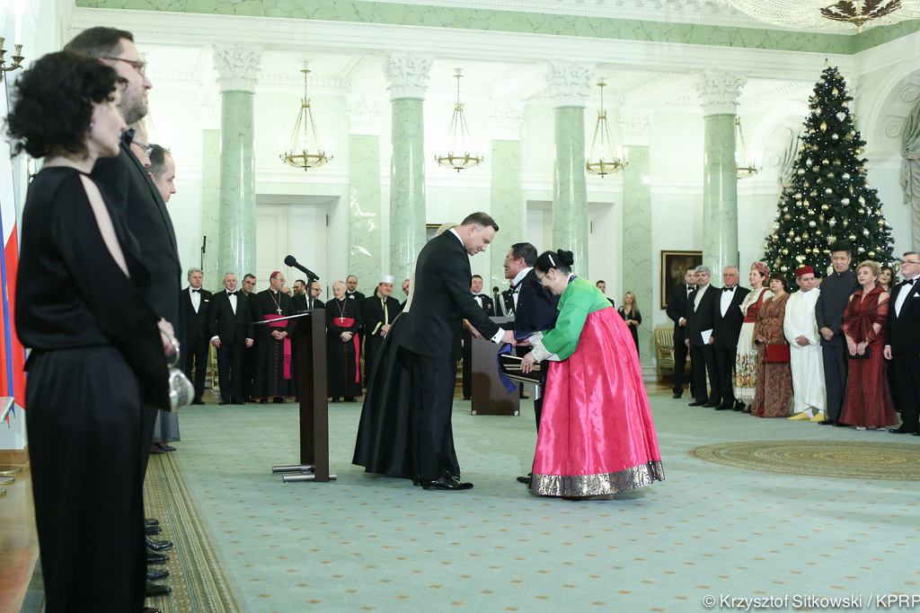 Prezydent Andrzej Duda spotkał się z korpusem dyplomatycznym
