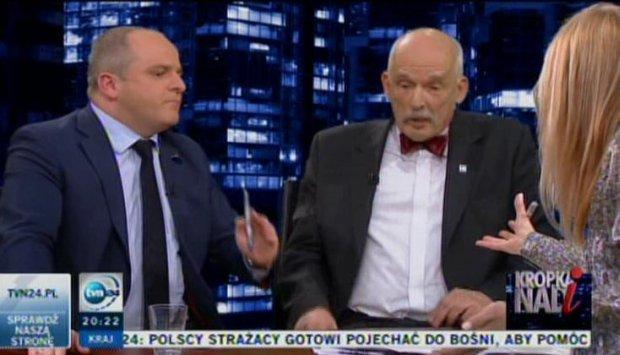 Paweł Kowal i Janusz Korwin-Mikke