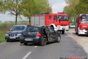 Karambol pod Oleśnicą. Zderzyło się pięć aut