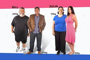 """W pół roku schudli łącznie ponad 100 kg. Jak to zrobili? """"Mój obiad miał dotychczas 3000 kalorii, teraz 300"""""""
