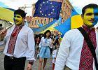 Ukraińcy na Paradzie Schumana w 2014 roku.