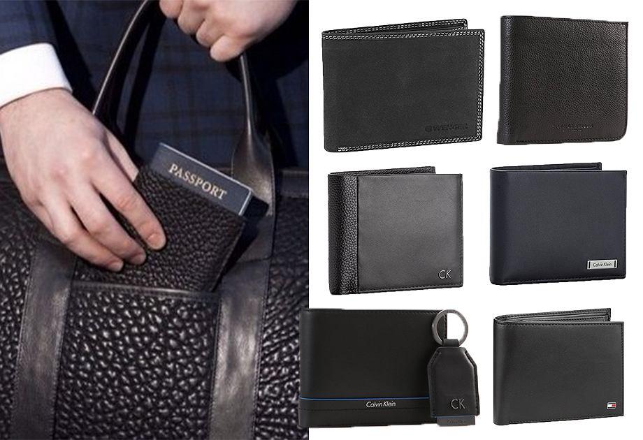 Czarne męskie portfele