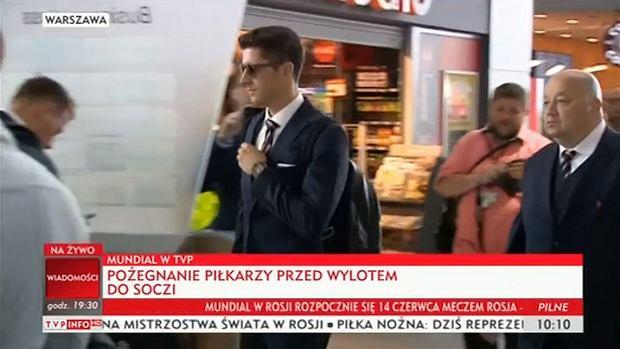 Robert Lewandowski przed wylotem do Rosji
