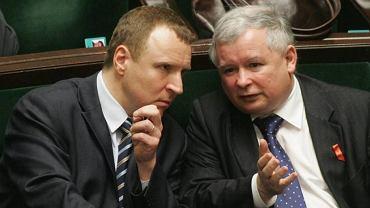Jacek Kurski i prezes PiS w Sejmie