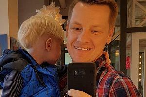 Marcin Mroczek z synem