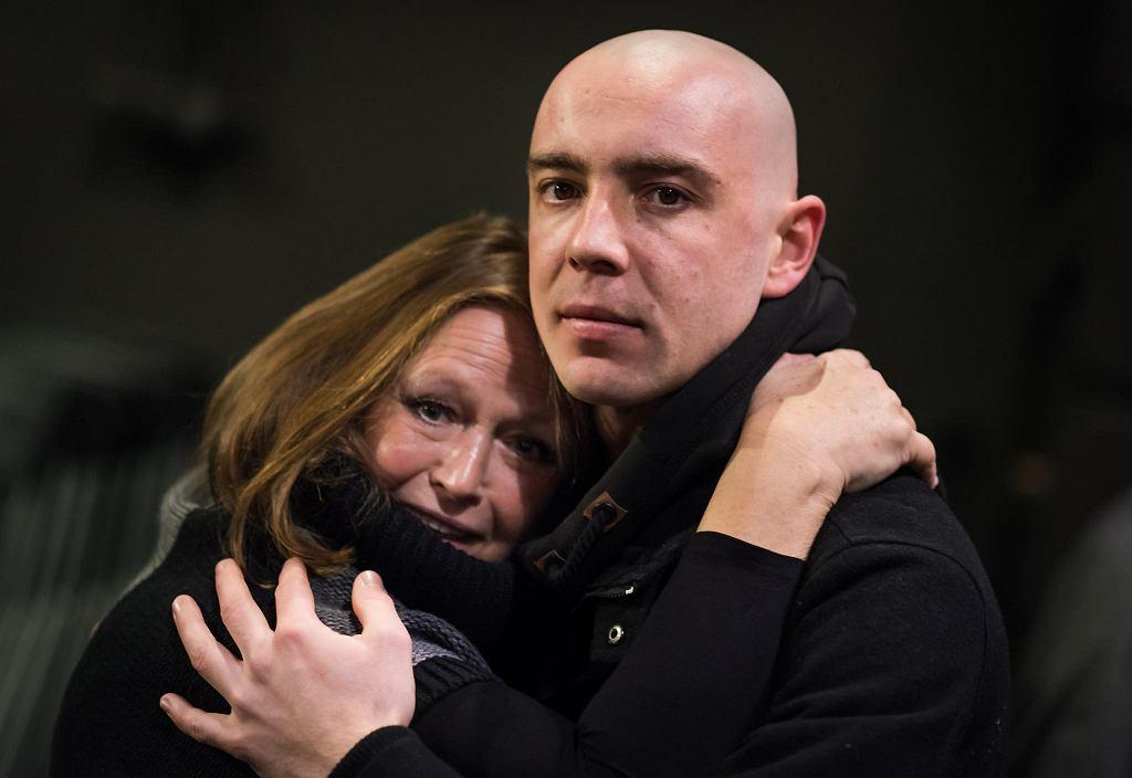 Iwona Bielska i Marcin Kowalczyk podczas próby spektaklu 'Ości' w Teatrze Soho  / TOMASZ SŁUPSKI