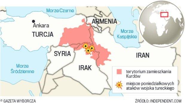 Turcja bombarduje Kurd�w
