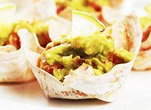 Kubeczki won-ton z guacamole - ugotuj