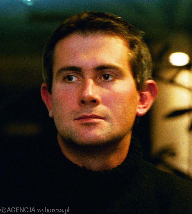 7.12.2000 WARSZAWA PROMOCJA NATIONAL GEOGRAPHIC NZ. MARCIN KYDRYNSKI - FOTOGRAF I DZIENNIKARZ   FOT.WOJCIECH SURDZIEL /AGENCJA GAZETA