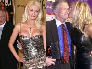 Hugh Hefner z Holly Madison i z Pamel� Anderson