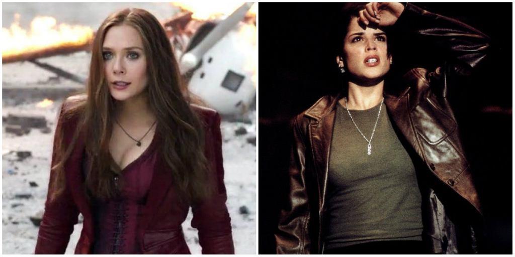 Elizabeth Olsen i Neve Campbell / mat. promocyjne wytwórni Marvel, kadr z filmu 'Krzyk 2'