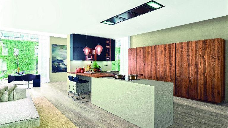 Zaprawą EcoMalta można pokryć zarówno blat, jak i ścianki wyspy  kuchennej. Studio Prostych Form, www.spf.waw.pl