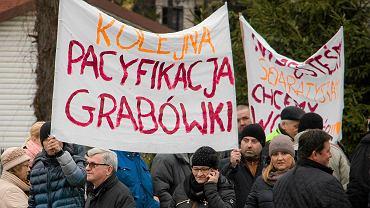 Trzecia blokada ronda w Grabówce