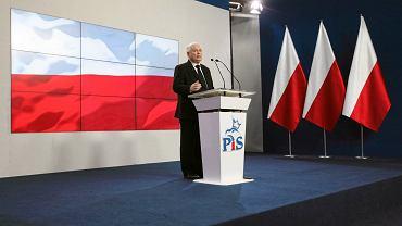 Konferencja prezesa PiS Jarosława Kaczyńskiego. Siedziba PiS,  Warszawa, ul. Nowogrodzka, 28 luty 2017