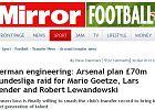 Bundesliga. Sunday Mirror: Arsenal chce dw�ch graczy Borussii, w tym Lewandowskiego. B�dzie oferta?