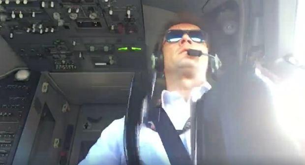 Pilot z Warszawy ląduje w trudnych warunkach