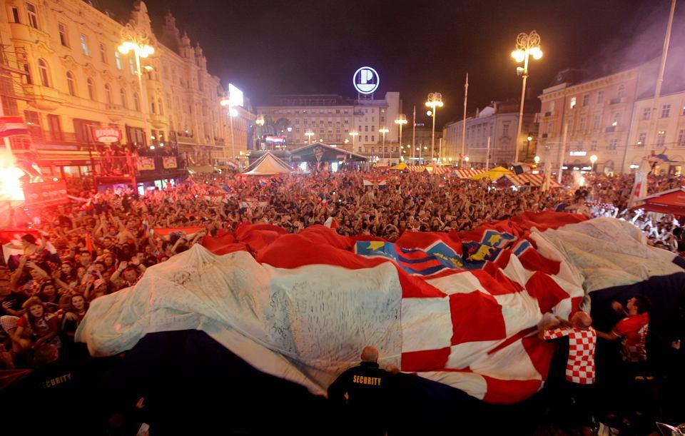 MŚ 2018. Zagrzeb po zwycięstwie Chorwacji nad Anglią
