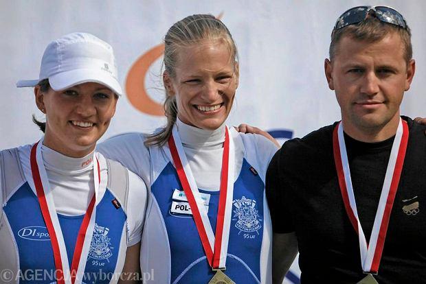 Ariana Borkowska, Julia Michalska, i ich trener Marcin Witkowski