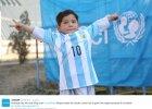 Piękny gest Messiego. 5-letni fan trenował w koszulce z folii, dostał prawdziwą