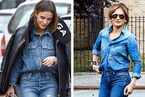 Total jeans look. 3 odmładzające stylizacje Boruc, Rozenek i J.Lo