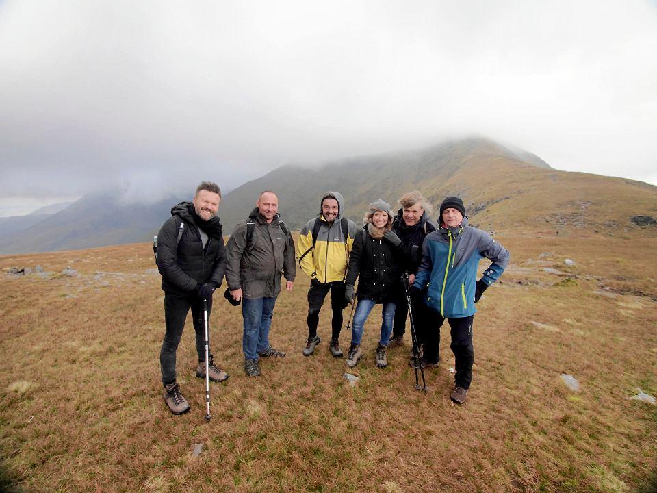 Zespół Carrantuohill w Irlandii w trakcie wyprawy na górę Carrantuohill