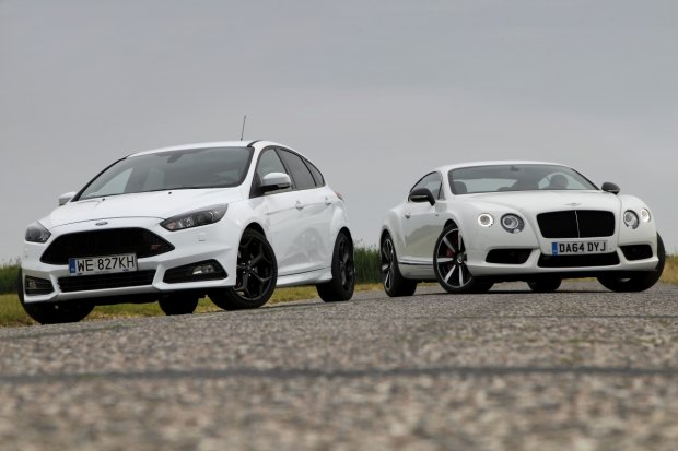 Ford Focus ST TDCi vs. Bentley Continental GT V8 S | Test | Bia�e jest bia�e?