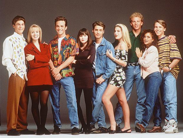 1AKTORZY  W SCENIE Z SERIALU BEVERLY HILLS 90210'