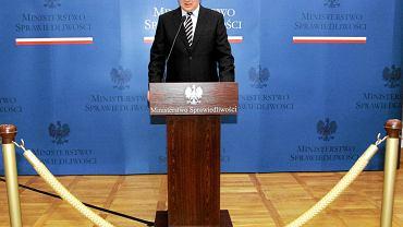 Zdymisjonowany minister sprawiedliwości Jarosław Gowin podsumował swoją pracę podczas konferencji prasowej
