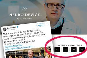 Sharon Stone zachęca: głosujcie na polski startup. Może uratować miliony ludzi