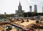 Na budowie stacji drugiej linii metra u zbiegu Świętokrzyskiej z Marszałkowską zaczęło się już zasypywanie wykopu