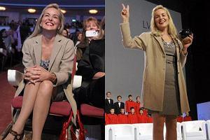 Sharon Stone tym razem w sukience. Tak prezentuje si� trzeciego dnia w Polsce!