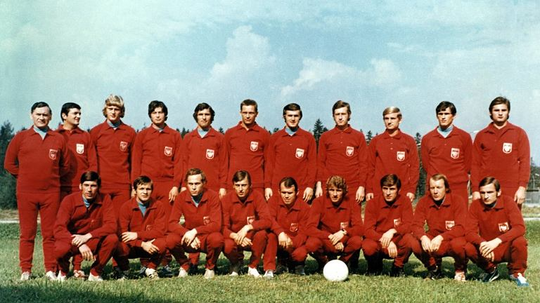 Piłkarska reprezentacja narodowa Kazimierza Górskiego z Olimpiady w Monachium 1972