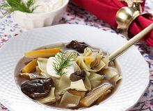 Zupa grzybowa z łazankami - ugotuj