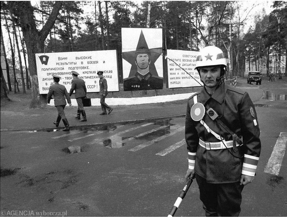 8 kwietnia 1991 r., Borne Sulinowo - początek wycofywania się wojsk radzieckich z Polski. Z Bornego Sulinowa wyjeżdża brygada rakiet operacyjno-taktycznych