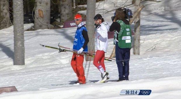 Soczi 2014. Kowalczyk zesz�a z trasy biegu na 30 km. Bjoergen mistrzyni�