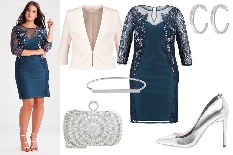 3b25dd0030 Stylizacja z turkusową sukienką dla puszystych   Kolaż   https   www.zalando