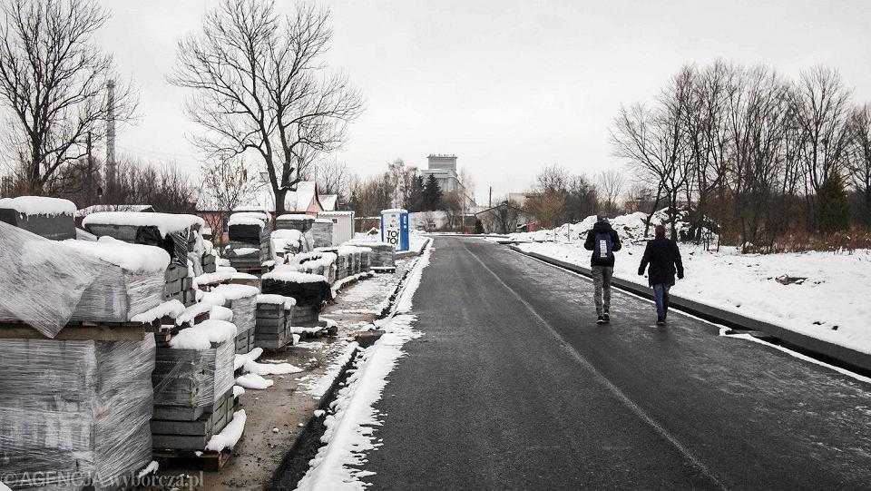 Ulica Prosta w Zamościu wybudowana w miejscu dawnego kirkutu