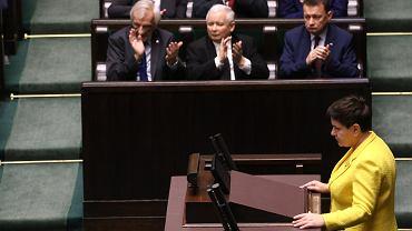Beata Szydło przemawia w Sejmie