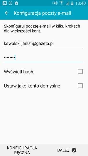 Dodawanie konta poczty Gazeta.pl na Androidzie